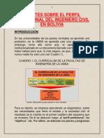 APUNTES SOBRE EL PERFIL PROFESIONAL DEL INGENIERO CIVIL EN BOLIVIA