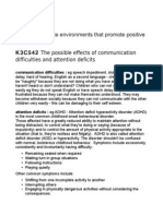 CCLD 3 Unit 337 K3C542 The Possible Effects of Communication Difficulties and Attention Deficits
