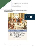 Elblogdelahistoria.com-Resumen Del Libro Los Orígenes Del Pensamiento Griego de Jean Pierre Vernant