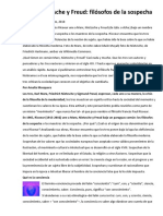 Maestros de La Sospecha - Rejunte de apuntes tomados de varios sites