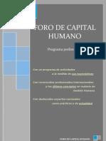 Programa Congreso Recursos Humanos