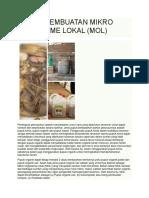 Teknik Pembuatan Mikro Organisme Lokal