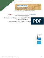 PT's IAS Academy - UPSC Prelims 2018 Paper I Analysis