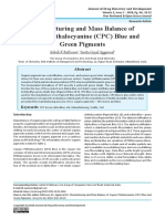 Manufacturing and Mass Balance of Copper Phthalocyanine (CPC) Blue and Green Pigments