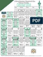 2018 October Festal Calendar (Amended)
