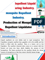 Mosquito Repellent Liquid Manufacturing Industry