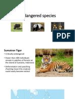 standard 3 - endangered species