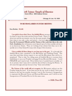 Letter Every Meeting