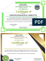 Sonny Certificate