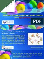 5 Benefits of outdoor activities for the children with Special Needs
