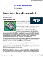 Secure Design Using a Microcontroller III
