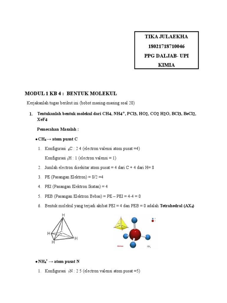 2000 Gambar Bentuk Molekul Ch4  Terbaru