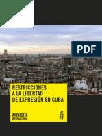 Amnistia Internacional y Cuba
