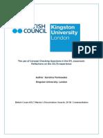 Karolina Florkowska Kingston University London Dissertation