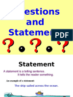 Question and Statement