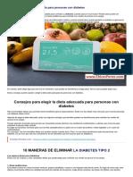 Cómo elegir la dieta adecuada para personas con diabetes - Guia de Chicas FOREX