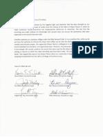 Crestline Council Letter