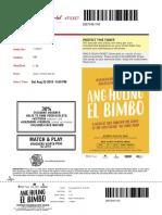 Hu Ling El Bimbo Tickets