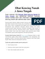 Penjual Obat Kencing Nanah Di Jawa Tengah