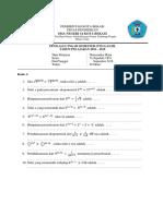 Soal PTS / UHB 2018 Matematika Minat A