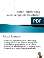Faktor –Faktor Yang Mempengaruhi Kesehatan