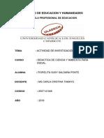 Actividad de Investigación Formativa Catálogo de Tesis I