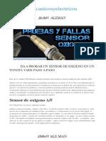 Aprenda Probar Sensor Oxigeno Toyota Yaris Paso Paso