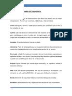 Diccionario Topografía - Vías Básico