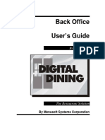 Digital Dining Office Manual