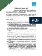 Bases Definitivas IV Edición Premio DISEÑA AQUAE 2018