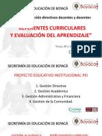 Referentes Curriculares y Evaluacíón Del Aprendizaje Mayo 28 de 2018