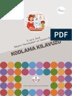 5. ve 6. Sınıf Bilişim Teknolojileri ve Yazılım Dersi Kodlama Kılavuzu