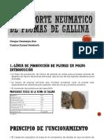 Transporte Neumatico de Plumas de Gallina