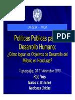 Políticas públicas para el desarrollo humano en Honduras