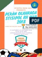 Poster Pekan Olahraga STISIPOL RH CUP 2018