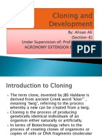 Cloning and Development