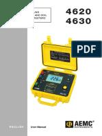 Resistivity Meter AEMC 4620 4630 Manual