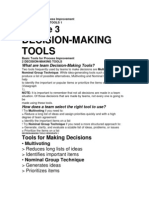 Basic Tools for Process Improvement