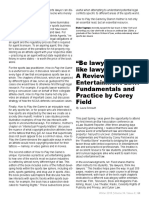 "Book review of ""Entertainment Law Fundamentals and Practice"" by Corey Field published in ABA's Entertainment and Sports Lawyer, Fall 2018"