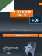 A Hipótese de Church