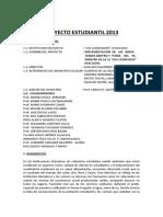 Proyecto Estudiantil 2013 Areas Verdes