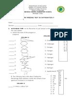 3rd Periodic Test in Math 5