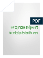 How to Present a Technical Work