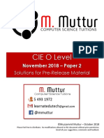 Solutions PreRelease Nov18 O Level P2 by M. Muttur