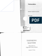 John W. Yolton - Thinking Matter. Materialism in Eighteenth-Century Britain