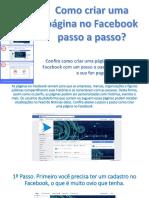 Como criar uma página no Facebook passo a passo?