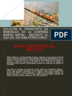 SOLUCIÓN AL TRANSPORTE DE MINERALES DE LA COMPAÑIA MINERA MAPSA