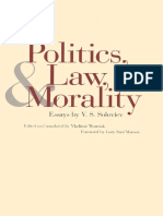 Vladimir Soloviev, Professor Vladimir Wozniuk-Politics, Law, And Morality_ Essays by v. S. Soloviev-Yale University Press (2000)