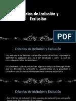 Criterios de Inclusion y Exclusion