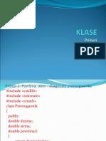KLASE-Primeri